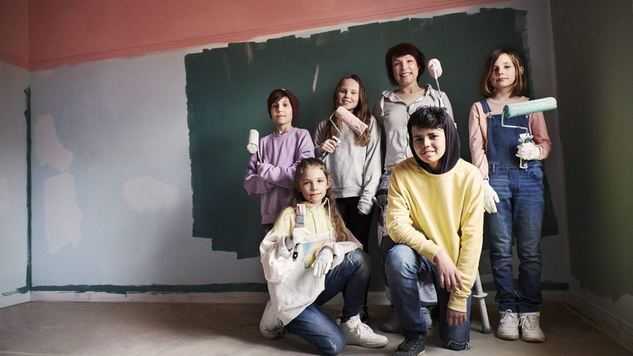 Gruppbild barn