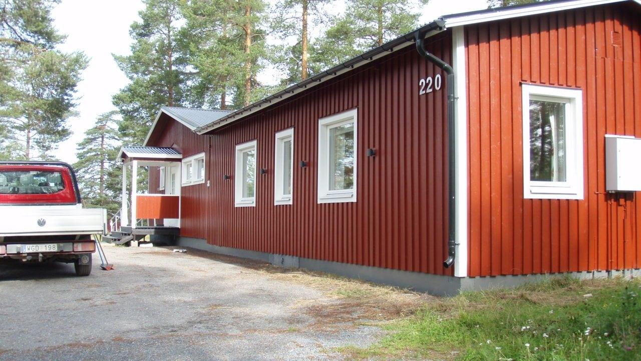 Rött hus färdigmålat